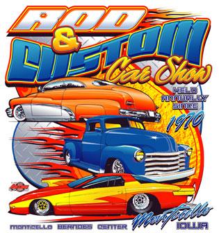 The Rod Custom Car Show Monticello Iowa - Car show t shirts